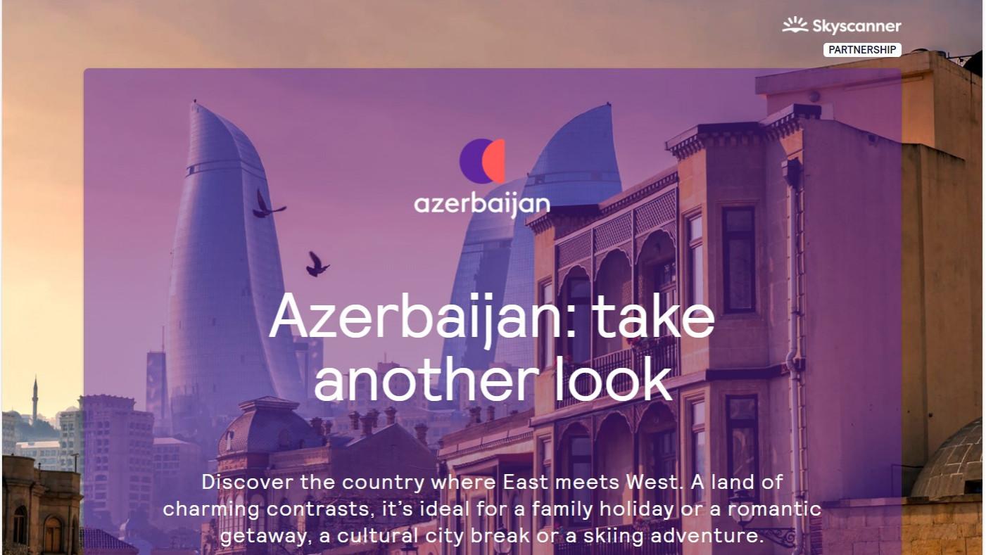 """>Azərbaycan Turizm Bürosu """"Skyscanner"""" platforması ilə əməkdaşlığa başlayıb"""
