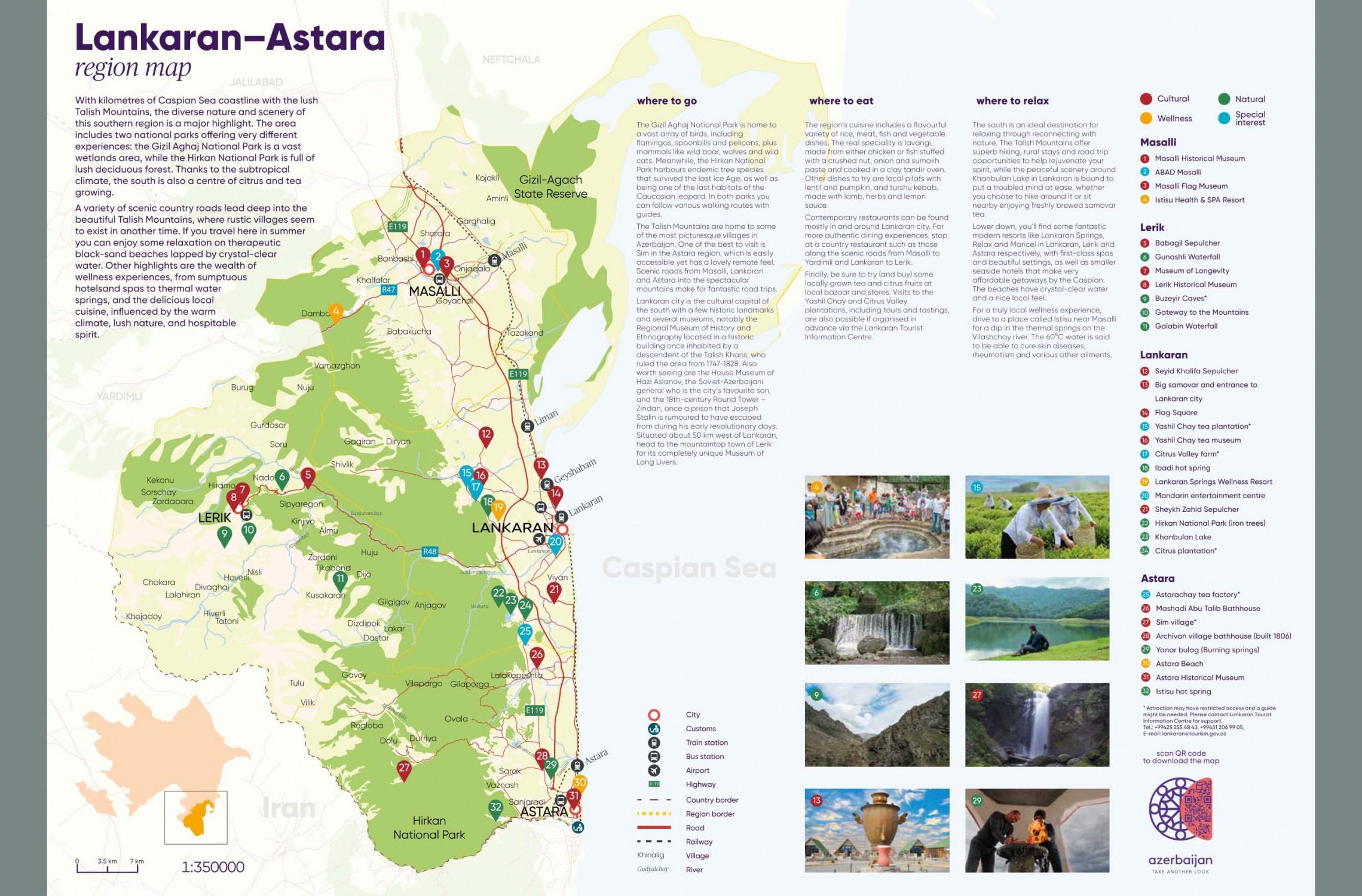 >Cənub turizm dəhlizi üzrə Lənkəran-Astara regional xəritəsi hazırlanıb