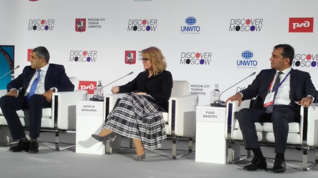 Fuad Nağıyev BMTÜTT-ün sessiyasında Azərbaycanın turizm potensialından danışıb
