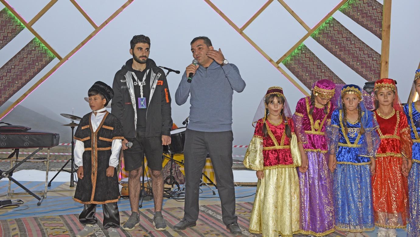 """Xınalıqda """"Dağların başı"""" layihəsi çərçivəsində musiqi festivalı keçirilir"""