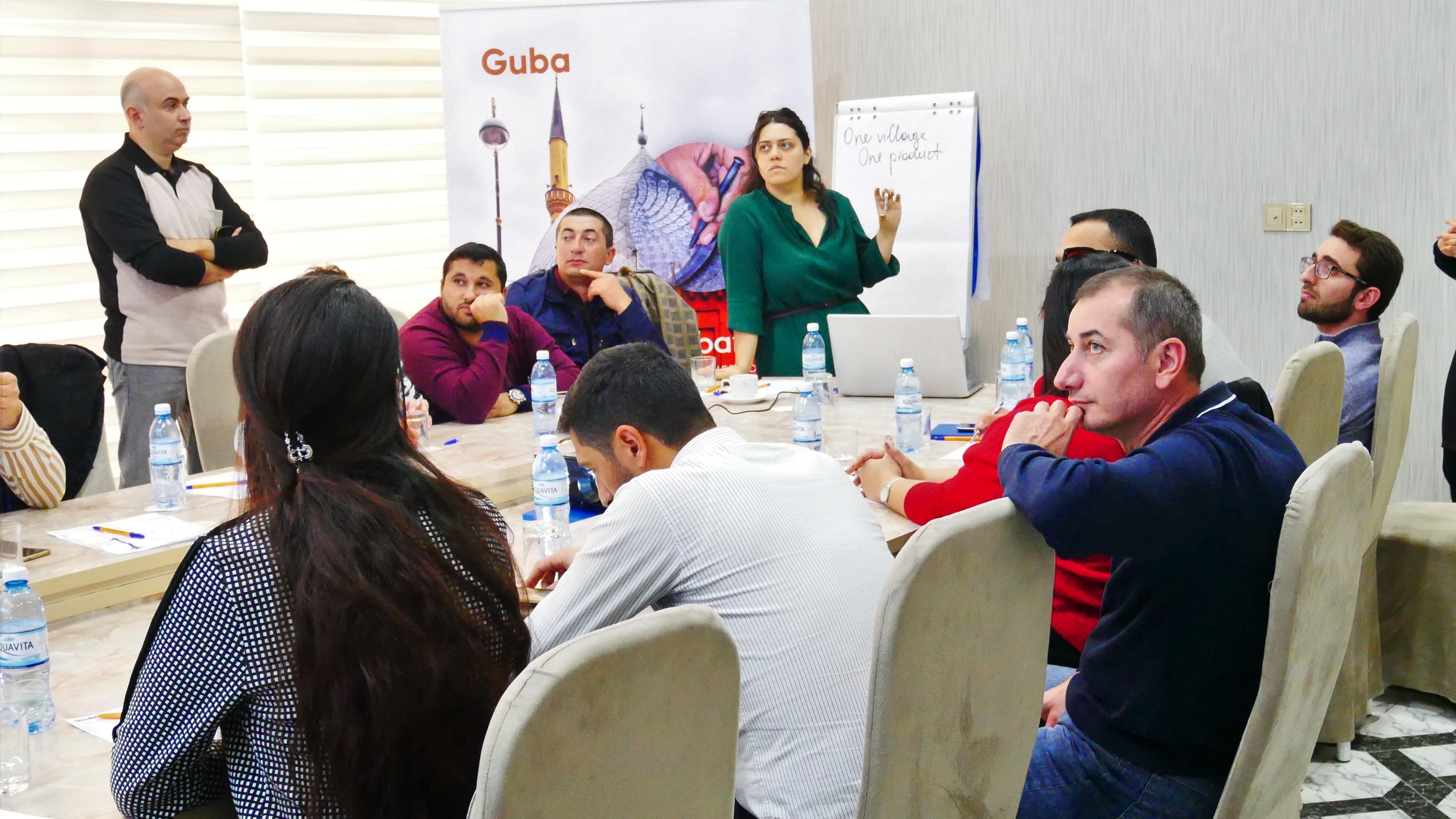 Quba-Qusar regionunun turizm bələdçiləri üçün təlim keçirilib
