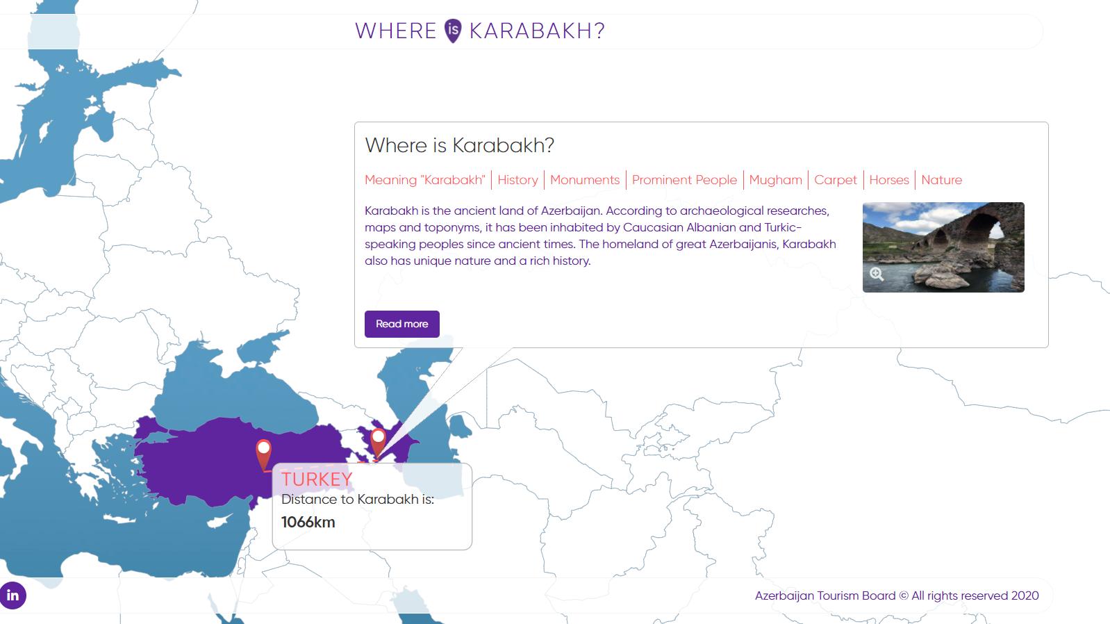 """>Azərbaycan Turizm Bürosu """"Where is Karabakh"""" platormasını istifadəyə verib"""