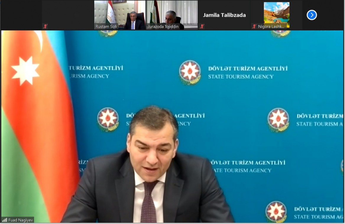 >Tacikistanla Azərbaycan arasında turizm əlaqələrinin inkişaf perspektivləri müzakirə olunub